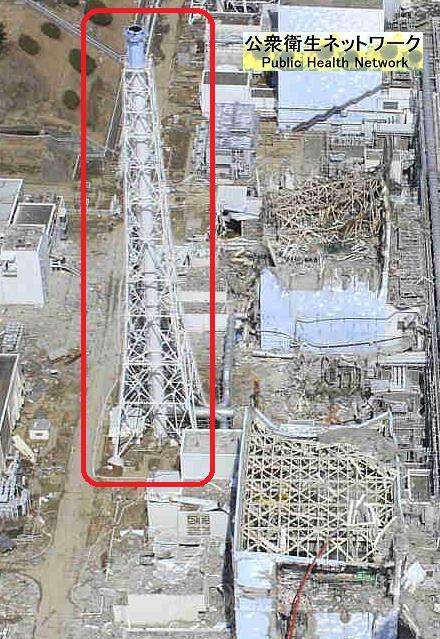 福島原発の排気塔2